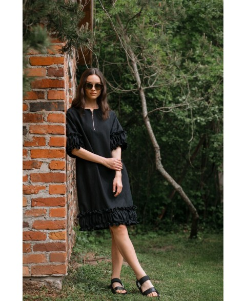 Stilinga suknelė iš lino