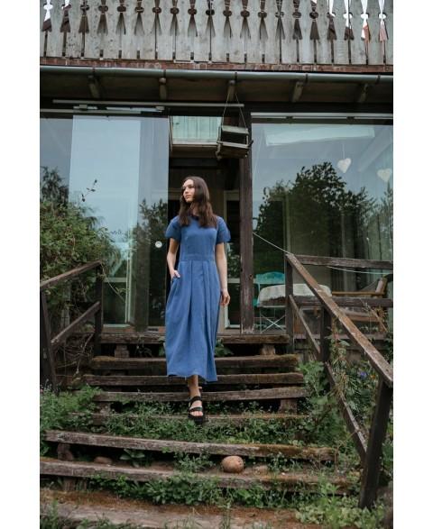 Ilga lininė suknelė su...