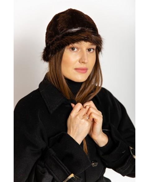 Kirpto bebro kailio kepurė