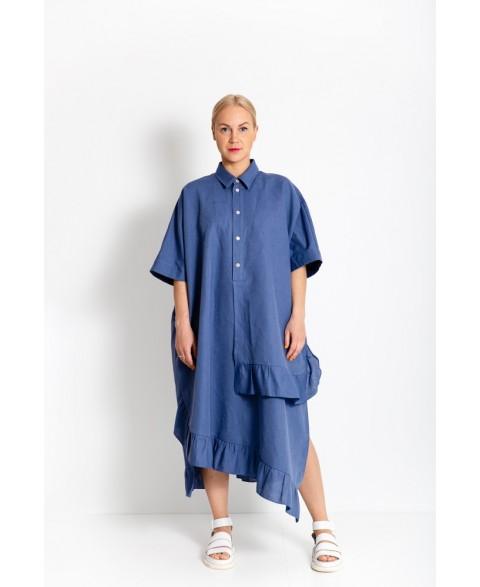 Laisvo kirpimo suknelė iš lino