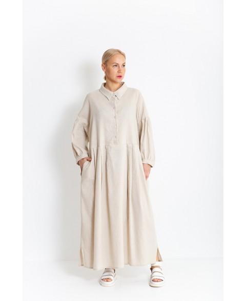 Ilga lino suknelė