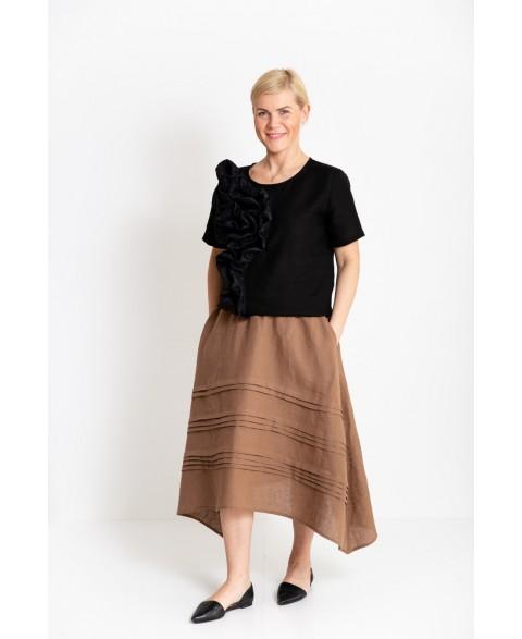 Platėjantis  lino sijonas