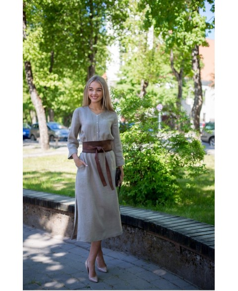 Lininė suknelė - tunika su...